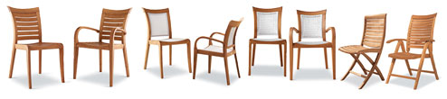 collection chairs: mirage garden line